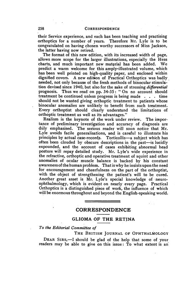 GLIOMA OF THE RETINA | British Journal of Ophthalmology