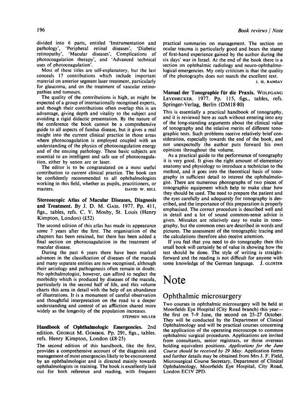 Manual der Tonographie für die Praxis | British Journal of
