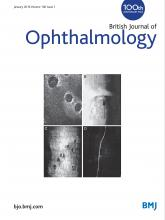 British Journal of Ophthalmology: 100 (1)