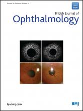 British Journal of Ophthalmology: 100 (10)