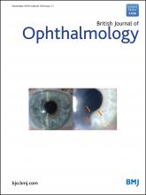 British Journal of Ophthalmology: 100 (11)