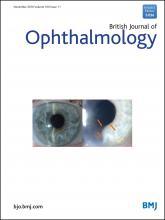 British Journal of Ophthalmology: 100 (11)
