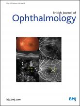 British Journal of Ophthalmology: 100 (5)