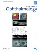 British Journal of Ophthalmology: 101 (2)