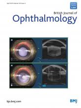 British Journal of Ophthalmology: 103 (4)