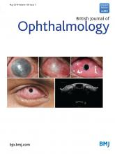 British Journal of Ophthalmology: 103 (5)