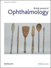 British Journal of Ophthalmology: 96 (1)