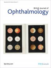 British Journal of Ophthalmology: 96 (11)