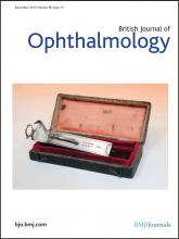 British Journal of Ophthalmology: 96 (12)