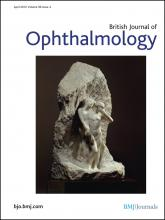 British Journal of Ophthalmology: 96 (4)
