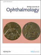 British Journal of Ophthalmology: 96 (7)