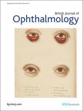British Journal of Ophthalmology: 96 (9)