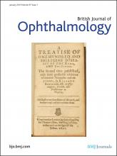British Journal of Ophthalmology: 97 (1)