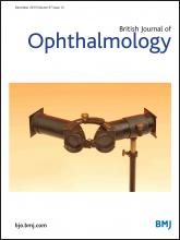 British Journal of Ophthalmology: 97 (12)