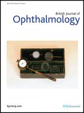 British Journal of Ophthalmology: 97 (4)