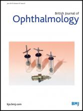 British Journal of Ophthalmology: 97 (6)