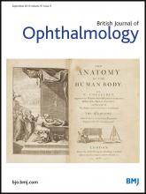 British Journal of Ophthalmology: 97 (9)