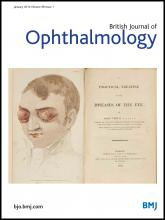 British Journal of Ophthalmology: 98 (1)