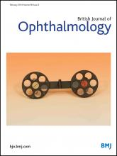 British Journal of Ophthalmology: 98 (2)