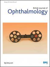 British Journal of Ophthalmology: 98 (2)