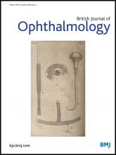 British Journal of Ophthalmology: 98 (3)